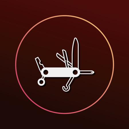 utility: utility knife icon