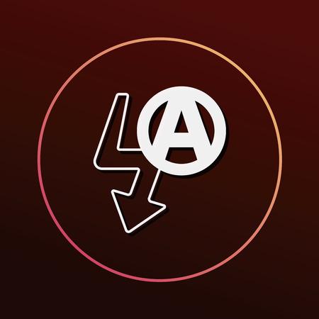 mode: camera auto flash mode icon