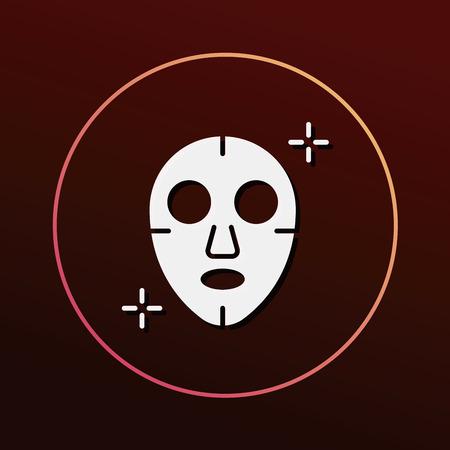 facial mask: Facial mask icon Illustration
