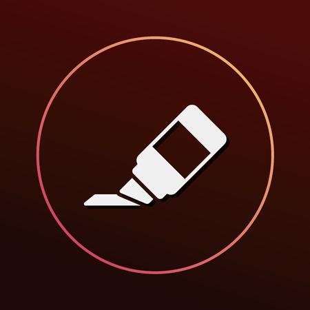 rotulador: icono de marcador
