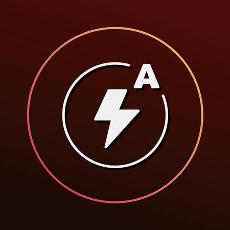 auto focus: camera auto flash mode icon