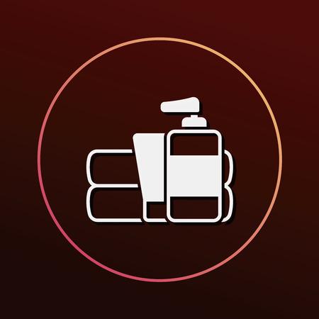 productos de aseo: Artículos de higiene icono Vectores