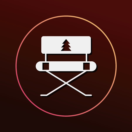 seated: camping chair icon Illustration