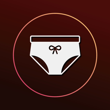 white panties: underwear icon Illustration