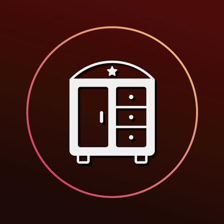 closet: closet cabinet icon Illustration