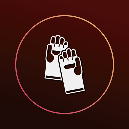working gloves: Working gloves icon Illustration