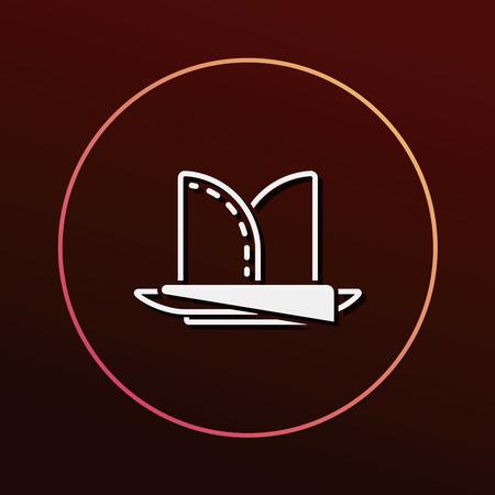 napkin: napkin icon