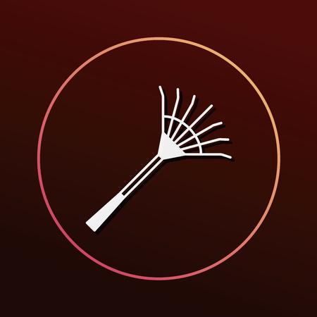 rake: Rake icon Illustration