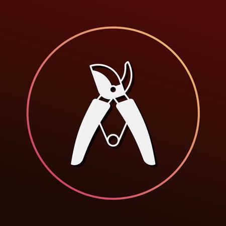 shears: Gardening shears icon Illustration