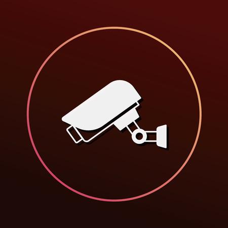 monitored: surveillance icon Illustration