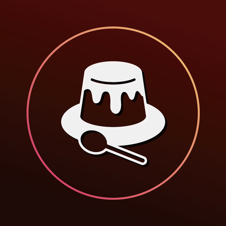 jelly: pudding jelly icon