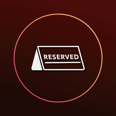 dinner party table: reserved icon