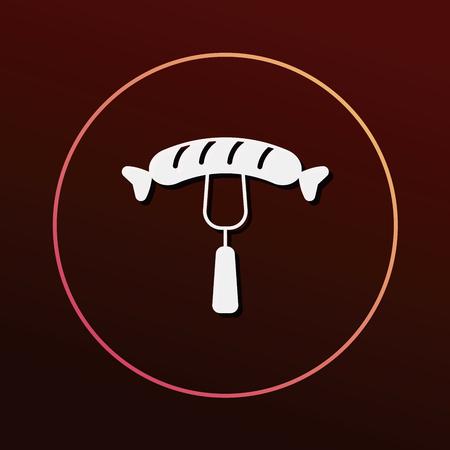 hot dog: hot dog sausage icon
