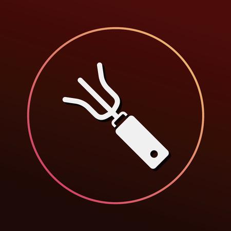 hand trowel: gardening shovel icon