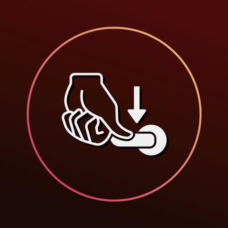 spotless: flush handle icon