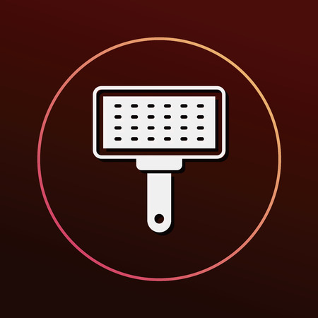 cat grooming: pet brush icon