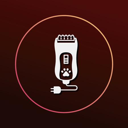 groomed: pet shaving machine icon Illustration