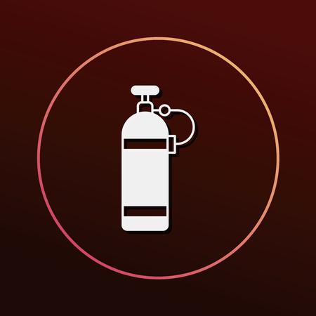 compressed air: Oxygen bottles icon