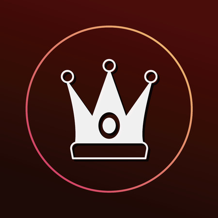 the aristocracy: crown icon Illustration