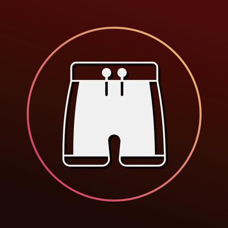swim suit: swim suit icon Illustration