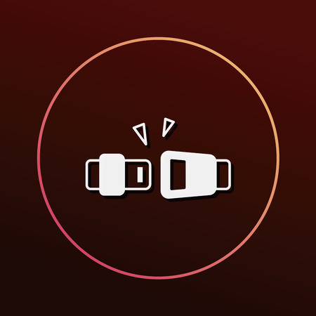seat belt: seat belt icon Illustration