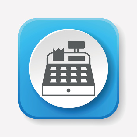 maquina registradora: Icono de caja registradora Vectores