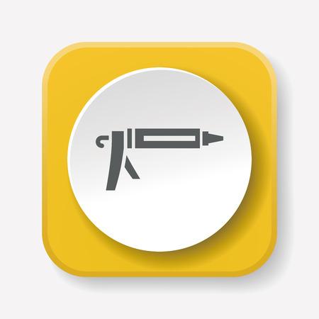 resistol: Icono de pistola de pegamento