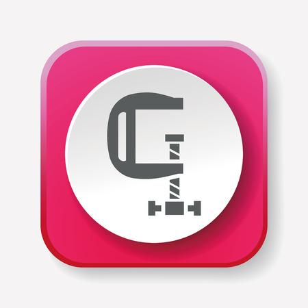 c clamp: clamp icon Illustration