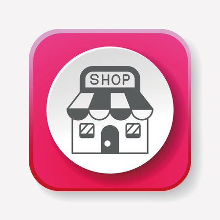 store: shopping store icon Illustration