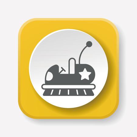 bumper: amusement park bumper cars icon Illustration