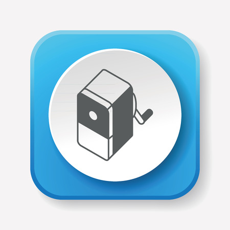 small tools: Pencil sharpener icon Illustration