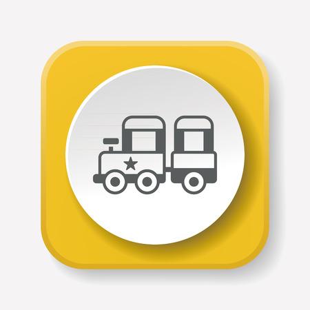 amusment: amusement park train icon Illustration