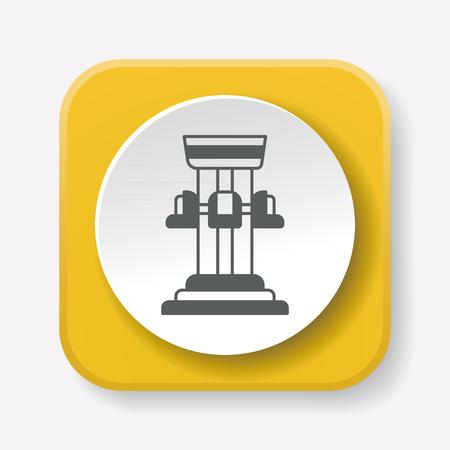 amusement park black and white: amusement park drop tower icon