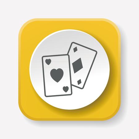 play card: play card icon Illustration