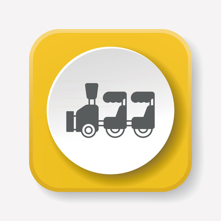 amusement park black and white: amusement park train icon Illustration