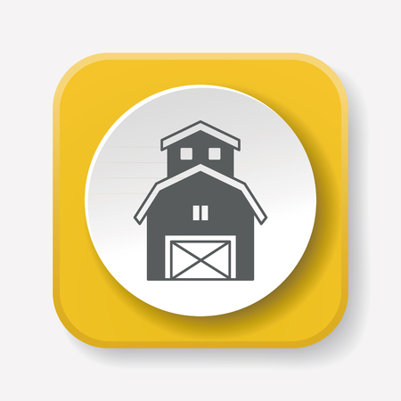 barn: barn icon Illustration