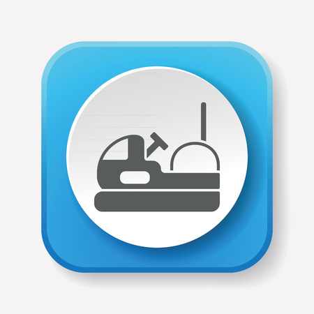 park: amusement park bumper cars icon Illustration