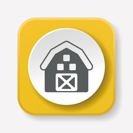 food storage: barn icon Illustration