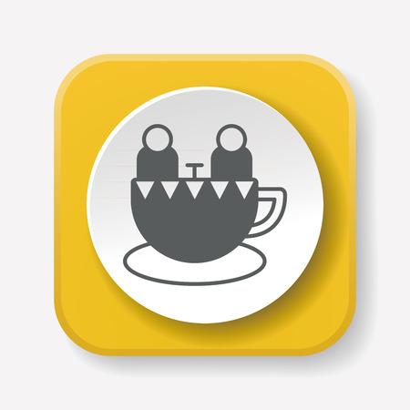 coffeecup: amusement park coffee-cup icon