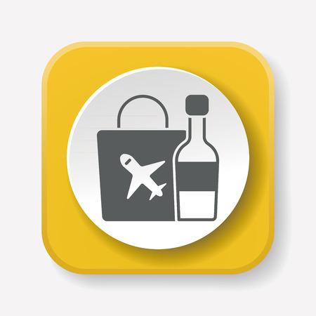 on duty: duty free icon Illustration