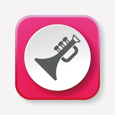 bugle: trumpet icon Illustration