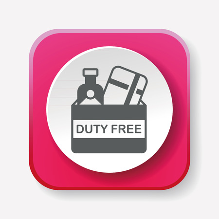 duty: duty free icon Illustration