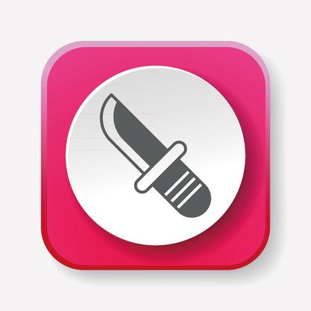 utility: Utility knife icon Illustration