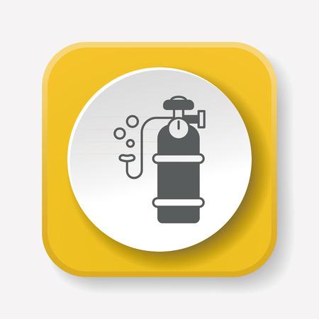 compressed air: Oxygen cylinder icon