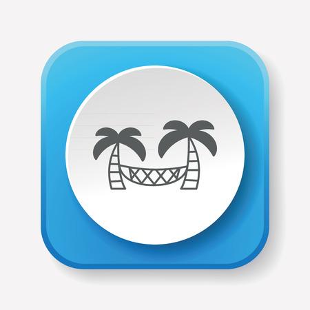 hammock: Coconut tree hammock icon