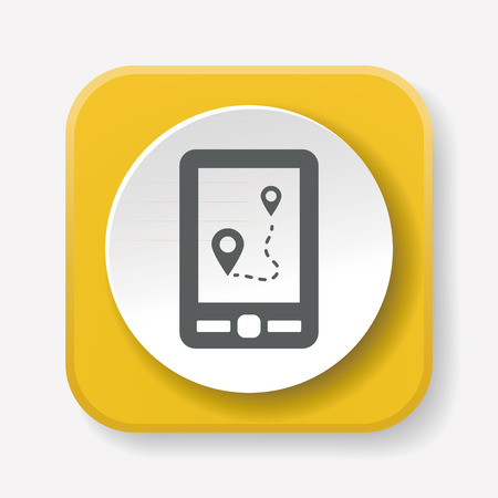 gps map: GPS map icon