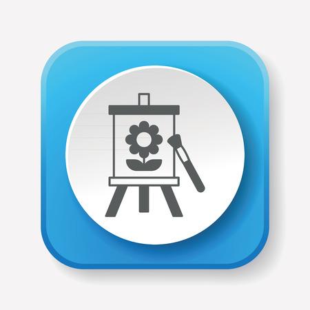 artwork: painting artwork icon Illustration