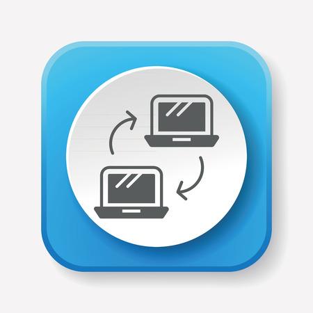 converting: transfer icon Illustration