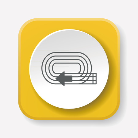 contend: Playground track icon Illustration