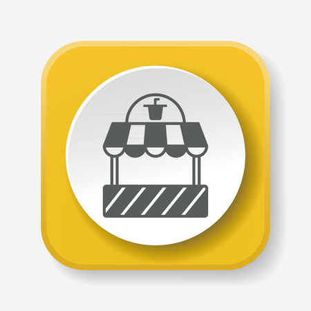 mall signs: shopping store icon Illustration
